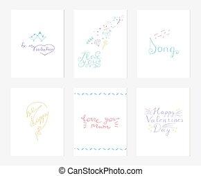 tenderness., levelezőlapok, szeret, gyűjtés