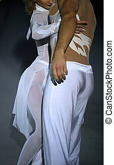 Tenderness - The man and the woman in white clothes