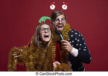 tendo, karaoke, partido, durante, tempo natal