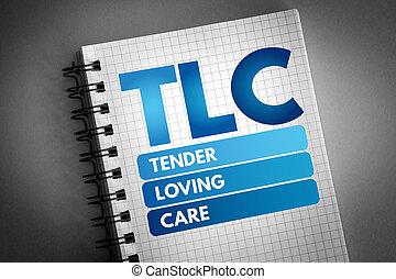 tendre, -, soin, acronyme, tlc, aimer