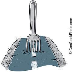 tenedor, camino