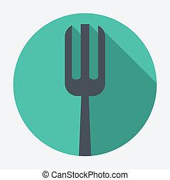 tenedor, icono