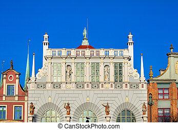 tenements, em, cidade velha, gdansk
