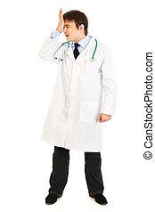 tenencia, algo, doctor, frente, aislado, el suyo, forgot, ...