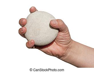 tenencia de la mano, roca