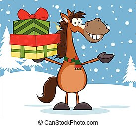 tenere, cavallo, pila, regali