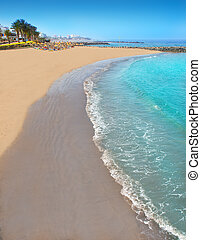 tenerife, 海岸, adeje, 美国, 海滩, 南方, las