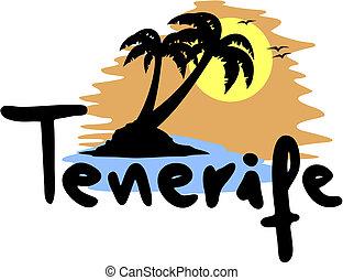 Creative design of tenerife beach