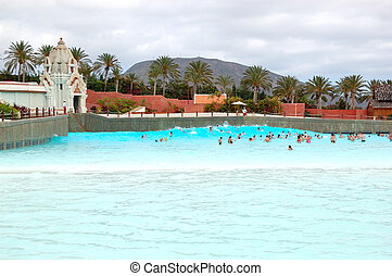 TENERIFE ISLAND, SPAIN - MAY 22: The tourists enjoying...