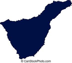 Tenerife map silhouette