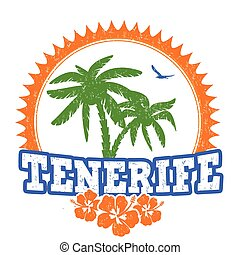 Tenerife travel rubber stamp on white background, vector illustration