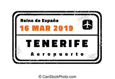 Tenerife vector stamp