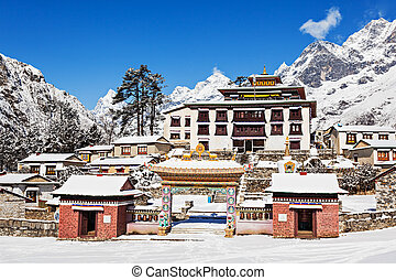 Tengboche Monastery, Nepal - Tengboche Monastery in...