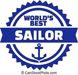 tengerész, embléma, világ, legjobb