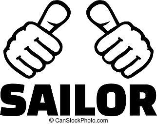 tengerész, lapozgat