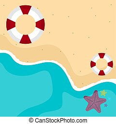 tenger, ábra, táj