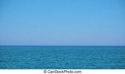 tenger, horizont
