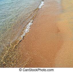 tenger, hullámtörés