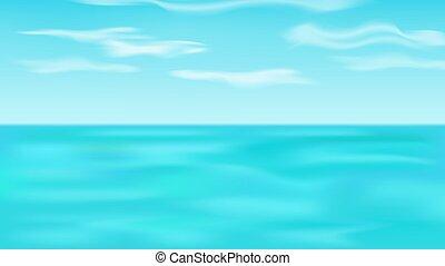 tenger, táj