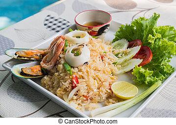 tenger táplálék, süt rizs