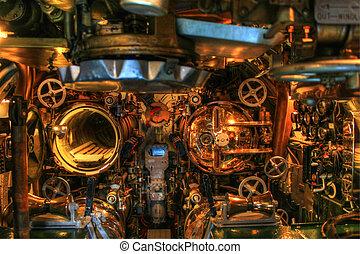 tengeralattjáró, megtorpedóz, öreg, öböl