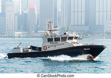 tengeri, rendőrség, alatt, hong kong