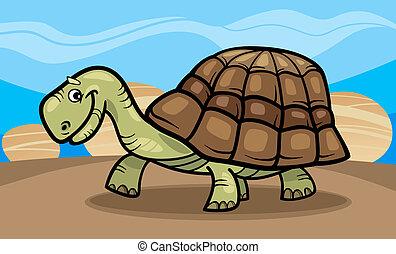 tengeri teknős, furcsa, karikatúra, ábra
