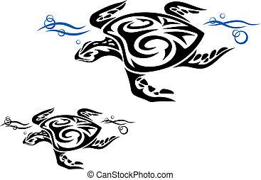 tengeri teknős, víz óceán