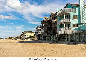 tengerpart épület, noha, seawall