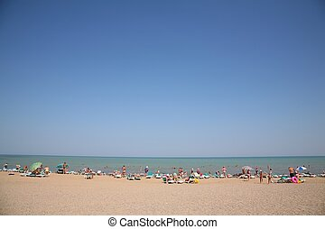 tengerpart, emberek