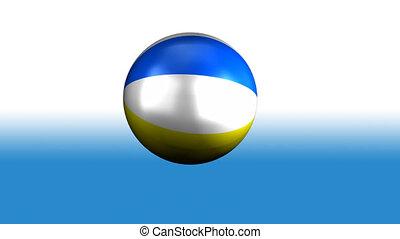 tengerpart, fonás, labda
