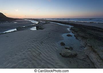 tengerpart, gris, sirene, sapka, nez, franciaország, utolér,...