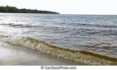 tengerpart, homokos, lenget