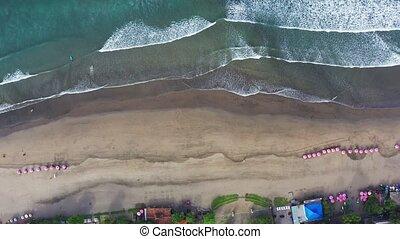tengerpart, indonesia., kilátás, antenna, bali