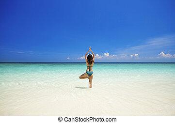 tengerpart, jóga