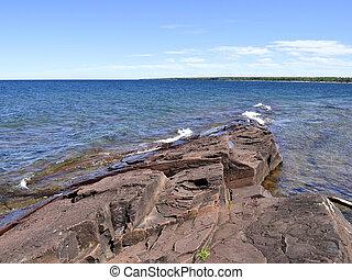 tengerpart, michigan, tó