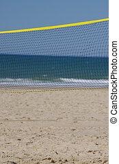 tengerpart, röpte labda
