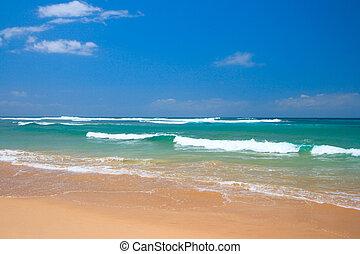 tengerpart táj, csendes