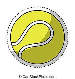 tenis, aislado, pelota, icono
