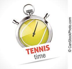 tenis, cronómetro, -, deporte