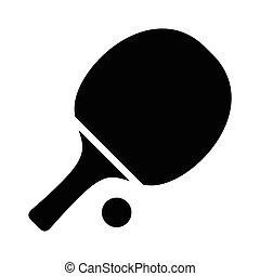 tenis de mesa, simple, icono