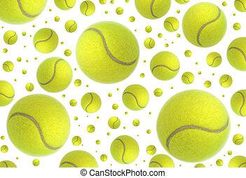 tenis, deszcz, piłki