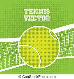 tenis, diseño, pelota