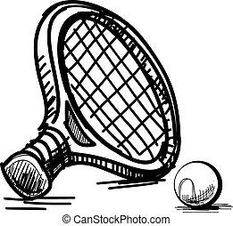 tenis, equipment.