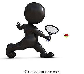 tenis, interpretacja, morph, człowiek