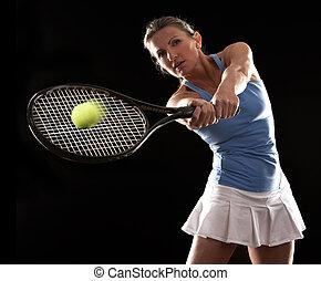 tenis, kobieta