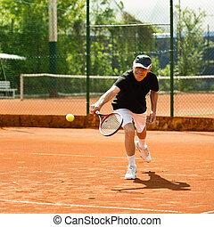 tenis, mayor masculino, tribunal