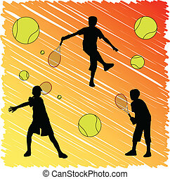 tenis, niño