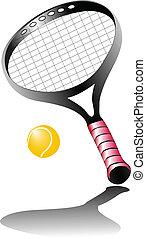 tenis, recket