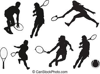 tenis, silueta